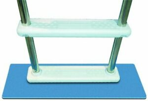 Protective Pool Ladder Mat Eliminates Scratching and Chaffing Caused by Ladder