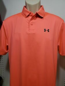 Mens Under Armour Golf Performance Polo shirt NEW Salmon Size Small $23.99
