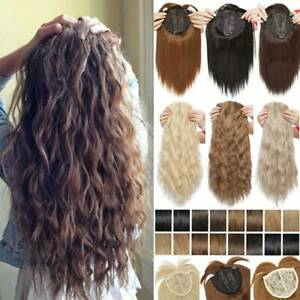 Real Natural Touppee Topper Hair Piece Full Head Clip In as real Hair Extensions $13.48