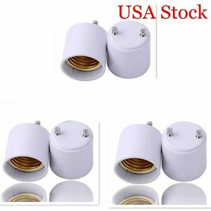 NEW 6pcs GU24 To E26 E27 LED Light Bulb Lamp Holder Adapter Socket Converter US