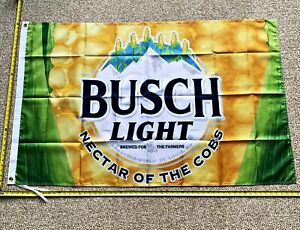 Busch Light Flag FREE SHIPPING Nector of Famers Dilly Bud Light Poster Banner