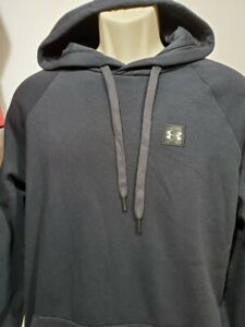 NEW Mens Under Armour Black Fleece Hoodie Pullover Size XXL Tall small logo $25.19