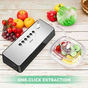 Entrige Vacuum Sealer Machine, Compact Design, Silver(Stainless Steel)