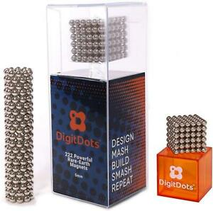 BrainSpark DigitDots 222 Pcs 5mm Magnetic Balls Nickel Desk Fidget