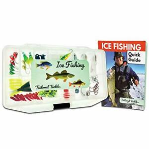 Tailored Tackle Ice Fishing Jigs Lures Kit Walleye Perch Panfish Crappie Blue...