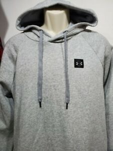 NEW Mens Under Armour Gray Fleece Hoodie Pullover 4XL small logo $25.19