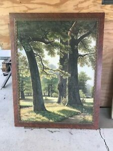 Large Oil Painting, framed. Forest