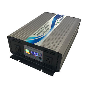 2500W Power Inverter 12V/24V/48V DC to 110V 120V AC 60HZ Pure Sine Wave From US