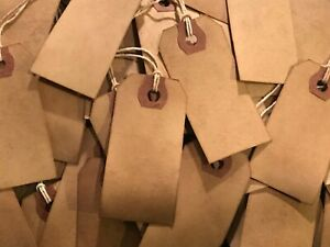 25 Small Primitive Coffee Stained Price Hang Tags Lot farmhouse gift wedding