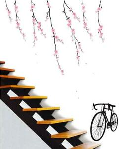 Bike & Cherry Blossom  Flower Decal Wall Paper Sticker