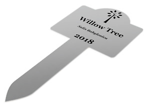 Custom Personalised Stainless Steel Plant Marker Stake Medium Size 200mm x 95mm