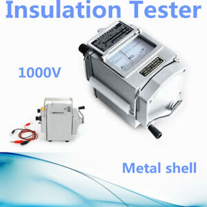 Portable Meter Insulation Tester Resistance Meter 1000MΩ 1000V measure $54.01