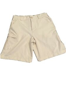 Boys Under Armour Khaki Khaki Golf Uniform Shorts YLG Youth Large $23.85