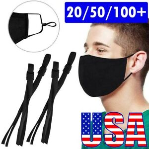 50 Pieces Sewing Elastic Band Cord with Adjustable Buckle for DIY Mask Sewing $9.70