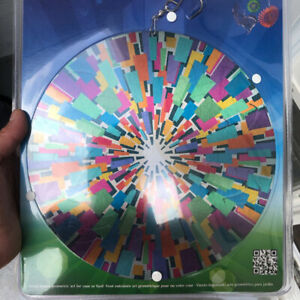 Evergreen Spectrum Metal Wind Spinner 10quot; Multi Color Rainbow Geometric Shapes $14.99