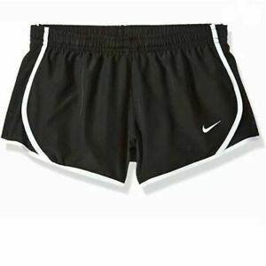 Nike Youth Dri Fit Lined Tempo Shorts Black White 327358 019 Girl's NWT $14.99