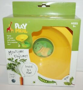PlayMeal Kids Food Bowl w/Compartment for Surprise Toy Reward Candy Dessert