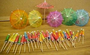 COCKTAIL UMBRELLAS lot of 100 paper parasol toothpick drink party DECoRATioN NEW