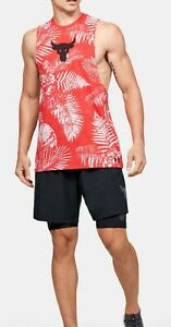 Under Armour Project Rock Tank Top Sleeveless Shirt Aloha Camo Training Tank XXL $48.99
