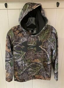 Boys Under Armour Camo Camouflage Hoodie YM Medium $12.99