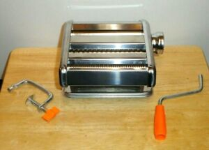 STAINLESS STEEL PASTA NOODLE MAKER HAND CRANK ROLLER MACHINE