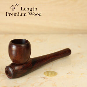 Esquisite 4quot; Hand Crafted Premium Wood Smoking Pipe $12.57