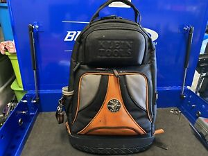 KLEIN TOOLS 55421BP-14 Tool Backpack, Ballistic Weave, Black/Orange, 9642