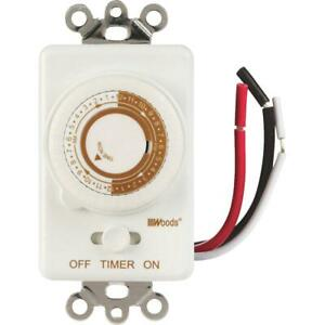 Woods 125V In-Wall 24-Hour Mechanical Timer 59745WD  - 1 Each