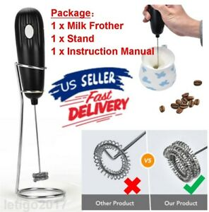 Electric Handheld Milk Frother Portable Egg Beater Mixer for Coffee Drink