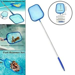 US 48inch Swimming Pool Leaf Debris Skimmer Mesh Net Cleaning w/ Telescopic Pole
