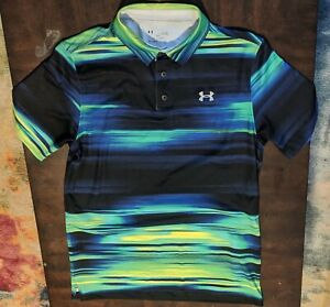 UNDER ARMOUR MEN'S SIZE LARGE LOOSE HEATGEAR POLO SHIRT POLYESTER $25.55