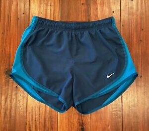 Nike Dri Fit Tempo Lined Run Shorts Blue Women's Small S $12.50