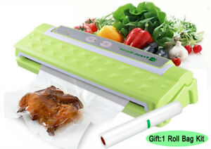 Vacuum Sealer Machine Automatic Air Sealing System for Food Storage W/ 1Roll Bag