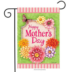 BRIARWOOD LANE Sleeved Garden Flag 12.5x18 HAPPY MOTHER'S DAY Mom Flowers New