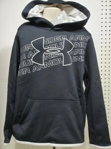 Boys Kids Youth UNDER ARMOUR Pullover Hoodie NEW Medium Long Sleeve Black White $20.99