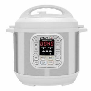 Instant Pot IP-DUO60WHITE Duo 7-in-1 Programmable Pressure Cooker, White, 6 QT