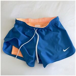 Nike Dri Fit Running Shorts Womens Size XS Just Do It Fold Over Waistband Lined $17.00