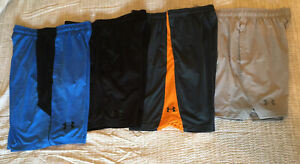 Under Armour Basketball Athletic Shorts Black Blue Gray Men's Size L Lot Of 4 $60.00