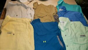 Lot of 7 SHIRTS Men's Sz XL Under Armour ISO CHILL Columbia Outdoor Fishing NICE $33.00