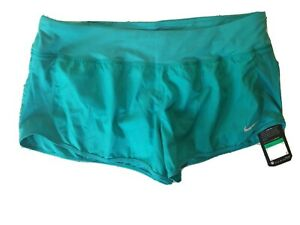 NWT Nike Dri FIT Women's Dry Running Shorts XL 719558 351 Teal Green Retails $35 $10.50