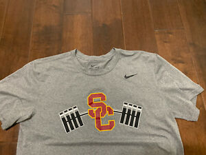 USC Trojans Nike Football Shirt Large Team Issued #17 Dri Fit Conditioning $300.00