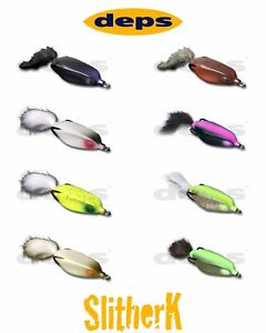 Deps Slither K Hollow Body Topwater Frog Lure Select Color s