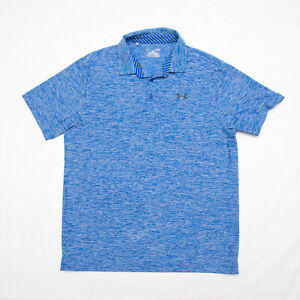 Under Armour MENS Polo Shirt Active Wear Golf loose Heat gear Size LARGE L $24.99