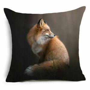 Fox Pillow Cover Case Polyester 17 x 17 $15.00