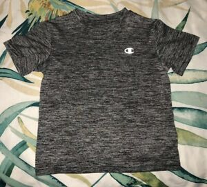 Toddler Boy Black Champion Dry Fit T Shirt, Size 5, Pre Owned $2.00