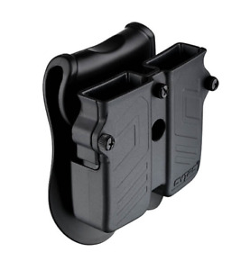 Universal OWB Double Magazine Pouch Case Holder w Paddle for 9mm 40 45 Mags $25.00