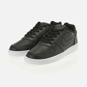 Nike Womens Ebernon Low Casual Shoes Black White AQ1779 001 NEW $42.99