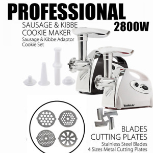 2800W Electric Meat Grinder Sausage Maker Stuffer Meat Chopper With Carry Handle