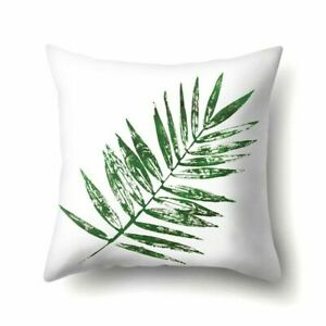 Leaf Pillow Cover Case Polyester 17 x 17 Floral Tropical $11.50