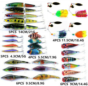 30PCS Mixed Fishing Lure Kits Wobbler Crankbaits Swimbait Spoon Jigs Hard Baits